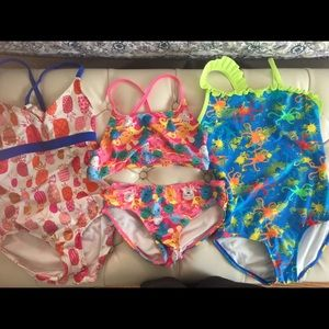 Other - 3 NWOT girls 7/8 swimsuits